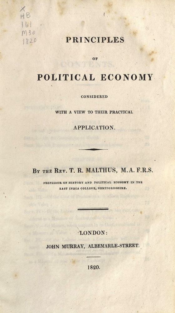 Principles pf Political, 1820