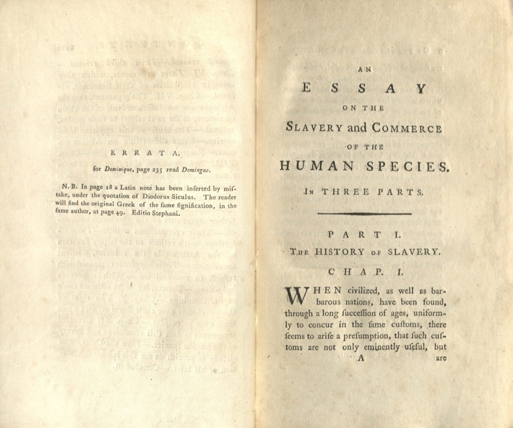 public sentiment marriott library the university of utah thomas clarkson an essay on slavery 1786