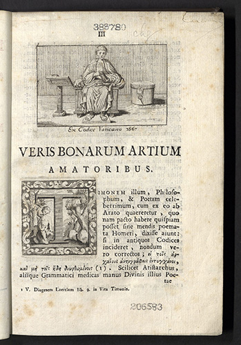 Virgil, Codex antiquissimus a rufio turcio aproniano, 1741