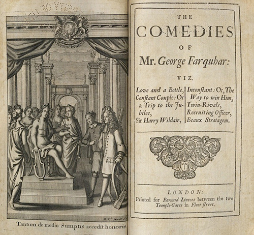 Farquhar, The Comedies of Mr, George..., 1707