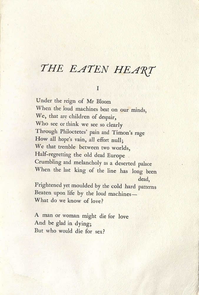 Aldington, The eaten heart, 1929