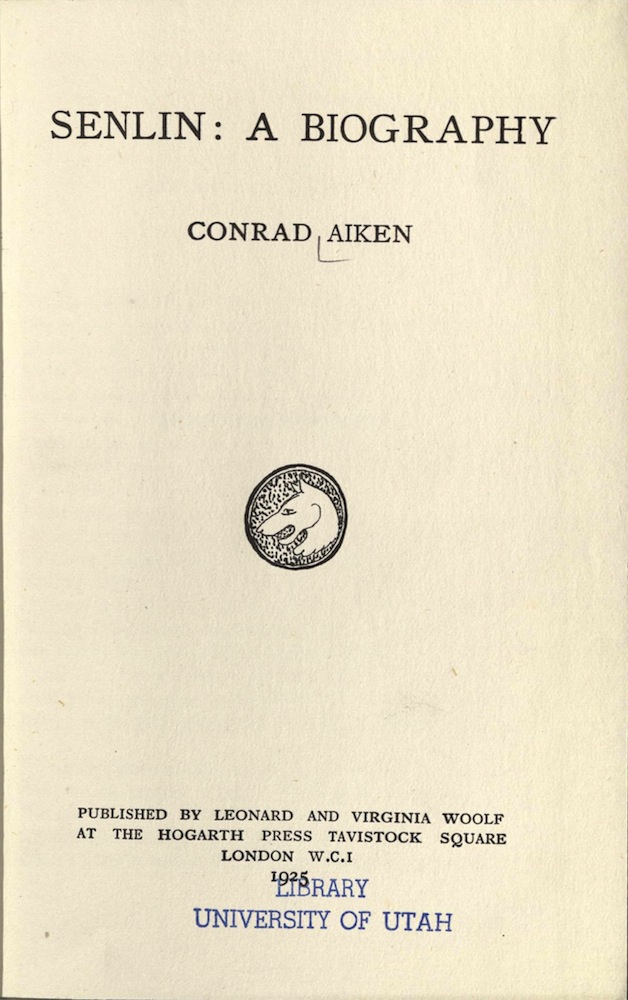 Aiken, Senlin: a biography, 1925