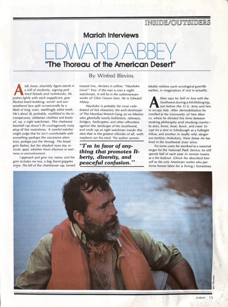 edward abbey eco-defense essay