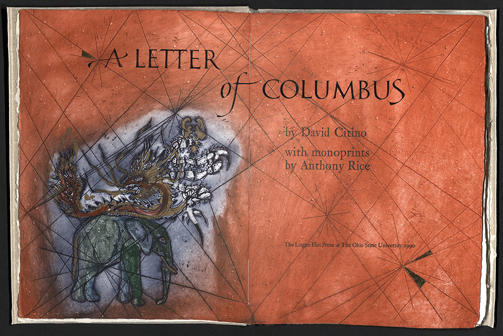 David Citino, Letter of Columbus, Logan Elm Press, 1990