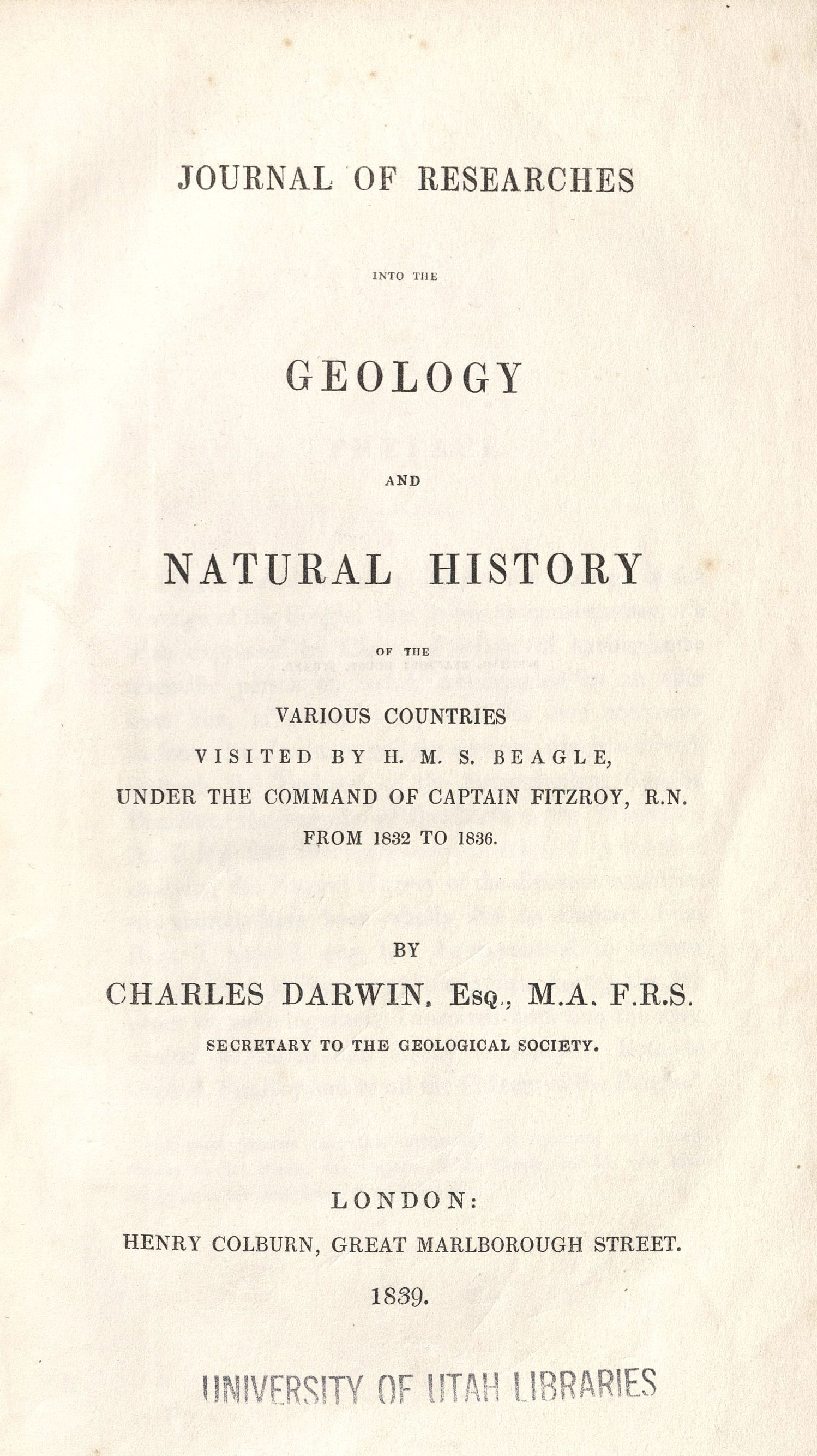 Journal of Research, 1839