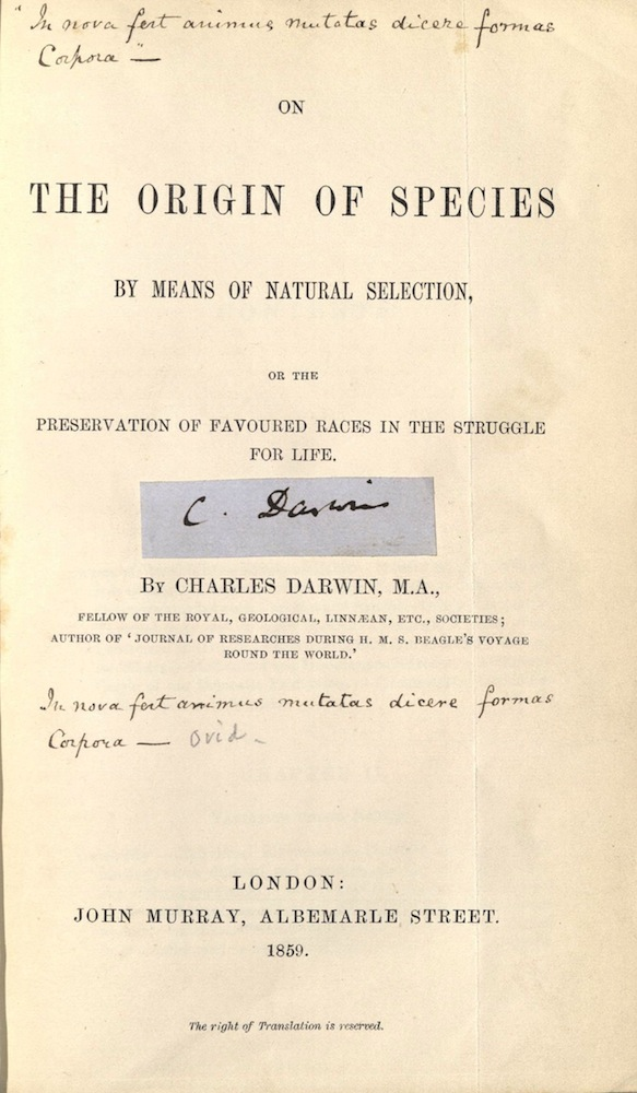 Darwin, On the Orgin of Species