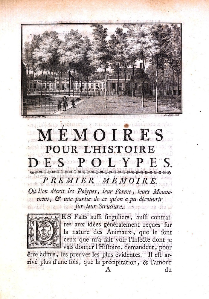 Trembley, Memoires, 1744