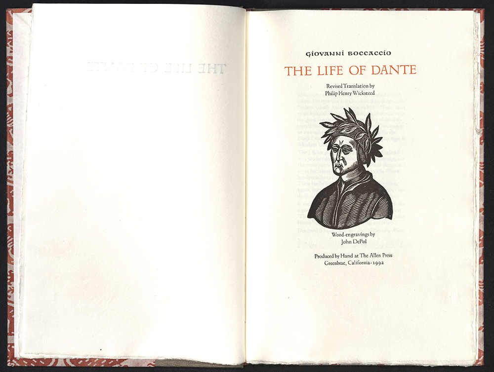 Giovanni Boccaccio, The life of Dante, The Allen Press, 1992