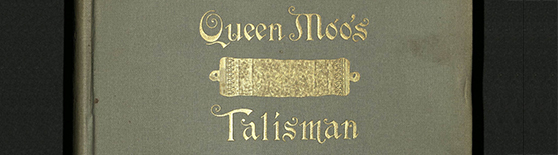 Featured image of the BOOK OF THE WEEK — QUEEN MOO'S TALISMAN Open Book blog post.