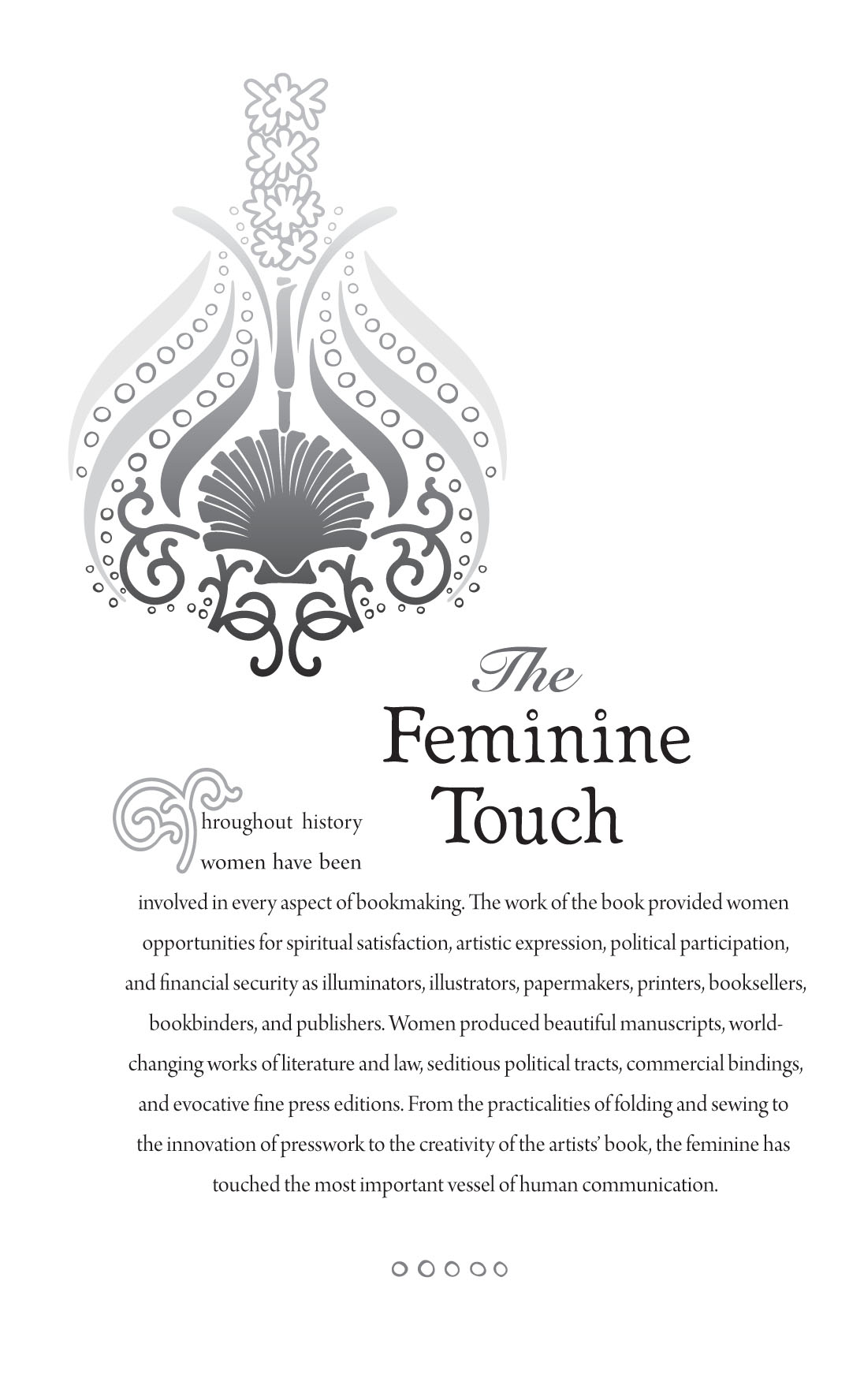 David Wolske, Feminine Touch Exhibition Poster,2009