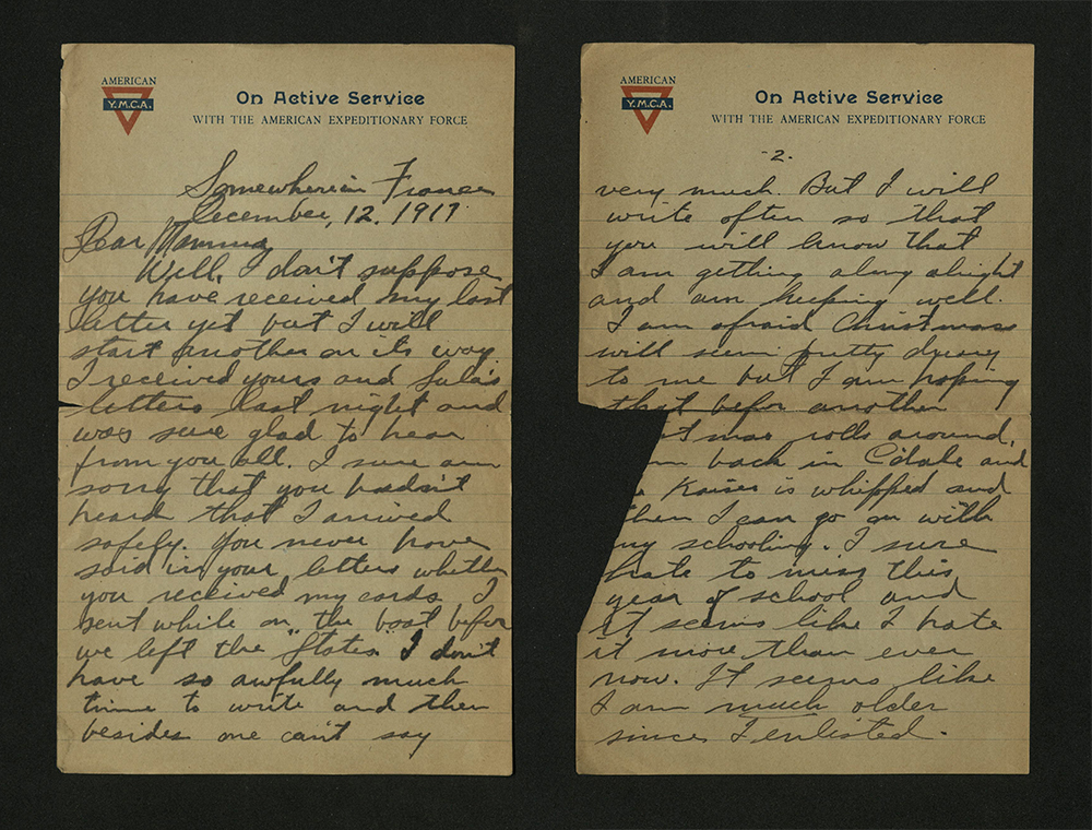 Letter from William J. Putcamp, dated 12 December 1917