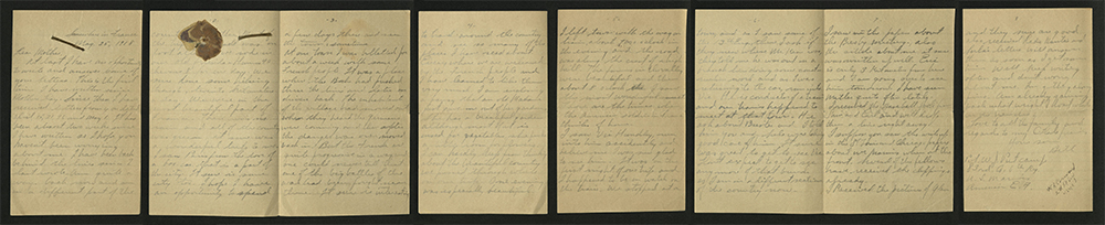 Letter from William J. Putcamp to his mother, dated 25 May 1918