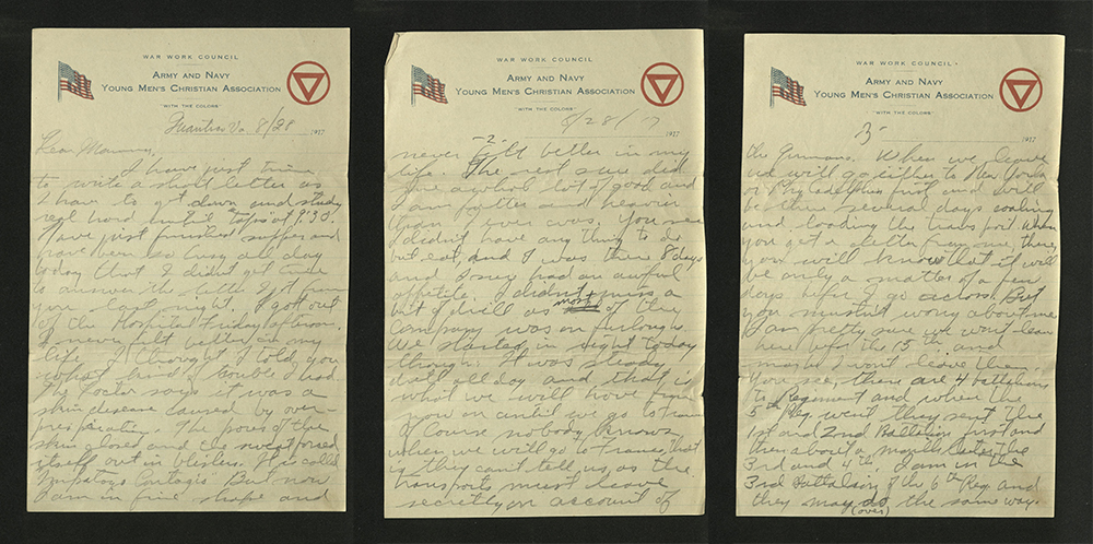 Letter from William J. Putcamp to his mother, dated 28 August 1917