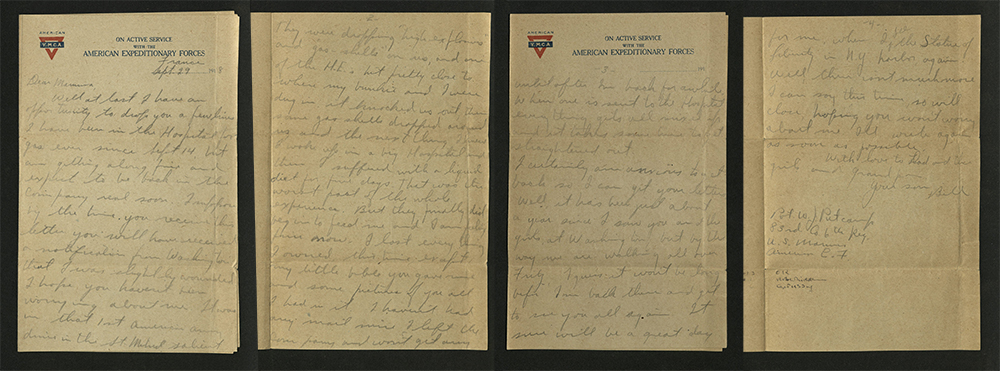Letter from William J. Putcamp to his mother, dated 29 September 1918