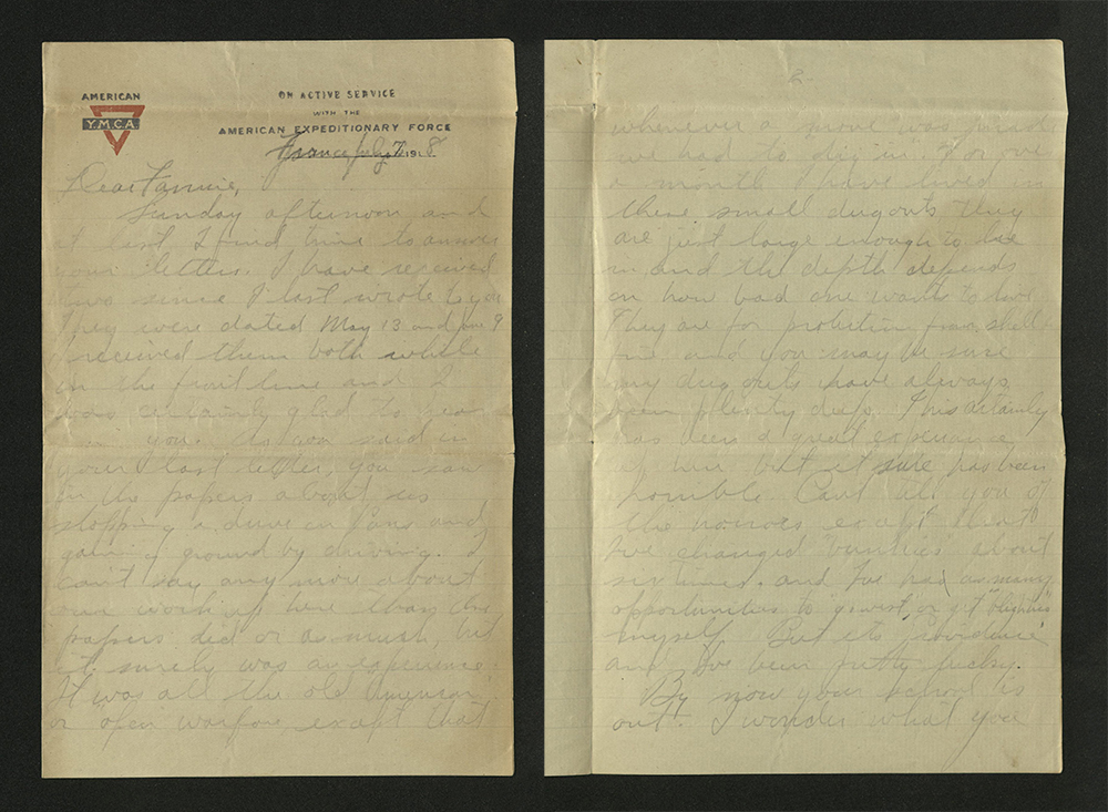 Letter from William J. Putcamp to Fannie, dated 7 July 1918