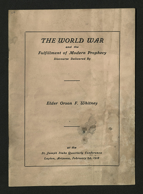 Front Cover of The World War and the Fulfillment of Modern Prophecy..., 1918