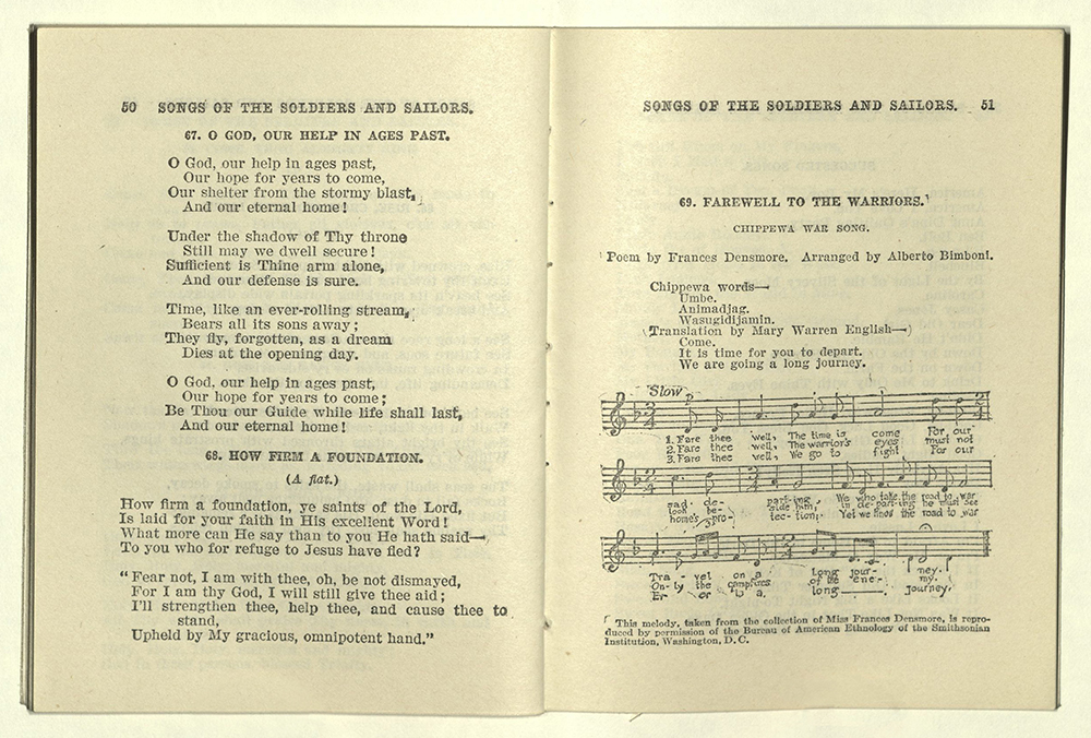 Songs of the Soldiers and Sailors, 1917