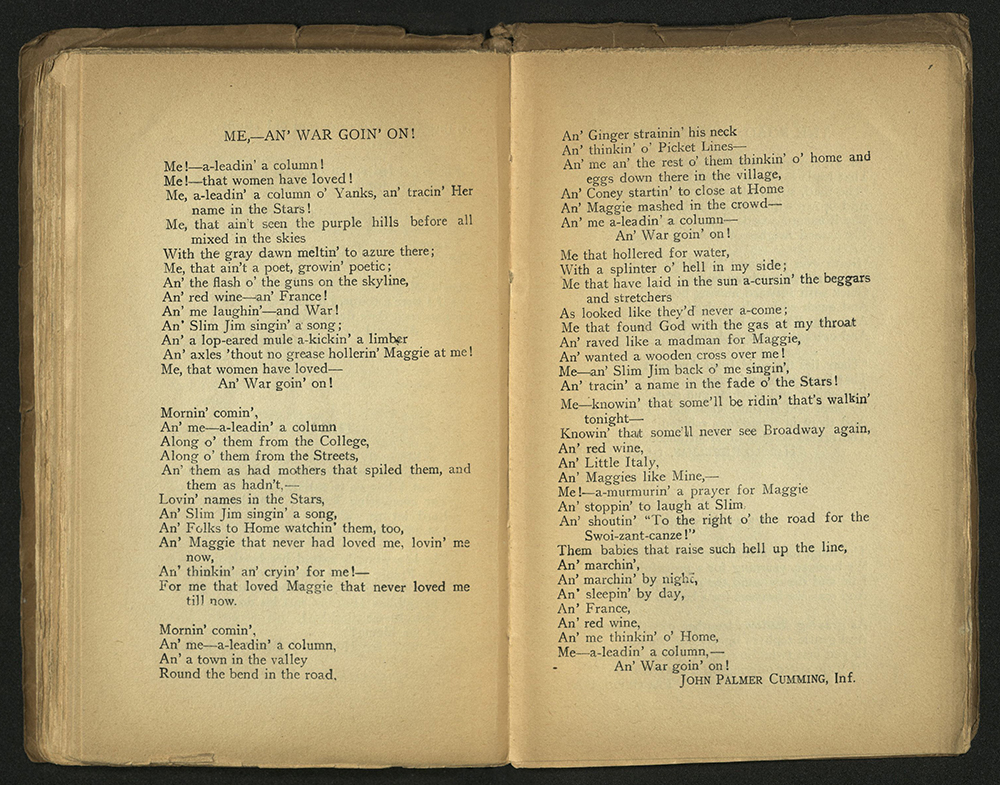 Yanks: A Book of AEF Verse, 1918