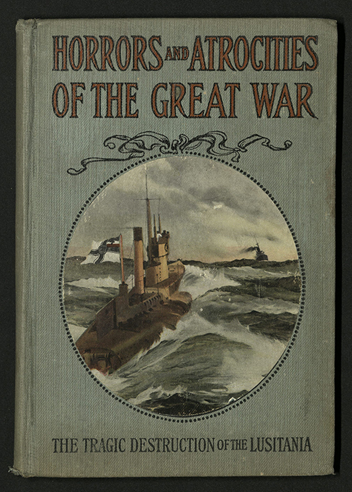 Front cover of Logan Marshall's Horrors and Atrocities of the Great War, 1915
