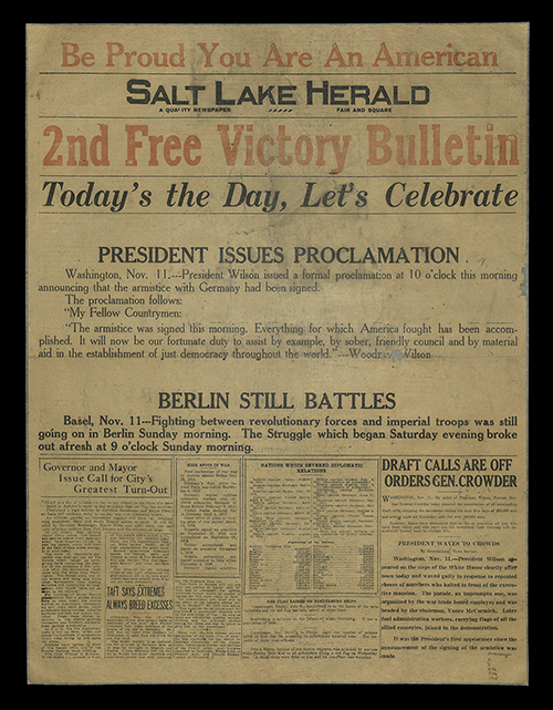 2nd Free Victory Bulletin, Salt Lake Herald, 1918