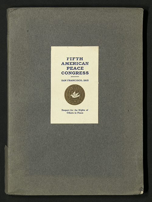 Front Cover of Proceedings of the Fifth American Peace Congress, 1915