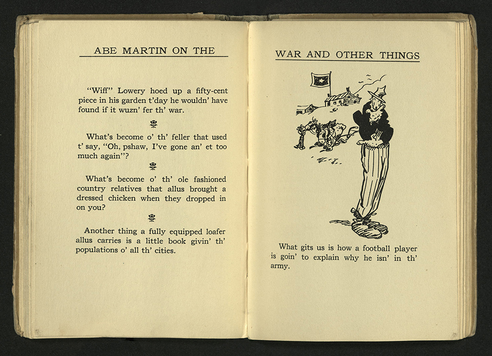 Kin Hubbard's Abe Martin on the War and Other Things, 1918