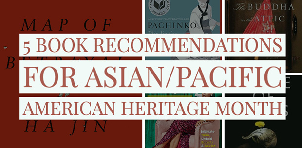 a collection of book covers written about Asian/Pacific American Heritage Month