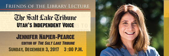 Friends of the Library Lecture: Jennifer Naiper-Pearce - Sunday December 3rd 3pm