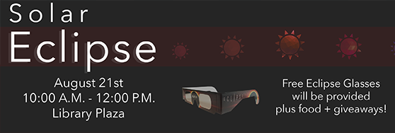 Solar Eclipse Aug 21 Library Plaza 10:00am