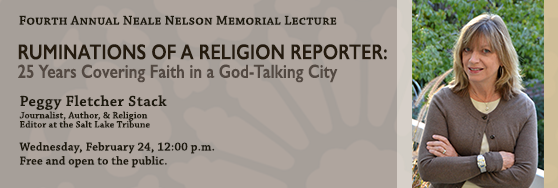 Neale Nelson Memorial Lecture: Feb 24 12pm. Free and open to public.