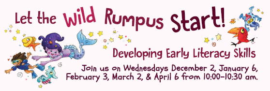 Developing Early Literacy Skills in the J. Willard Marriott Library Family Reading Room. Dec 2, Jan 6, February 3, and April 6 10:00am - 10:30am