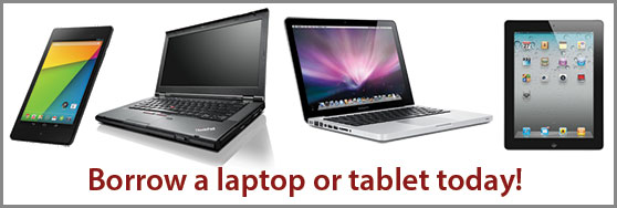 Borrow a laptop from the Knowledge Commons