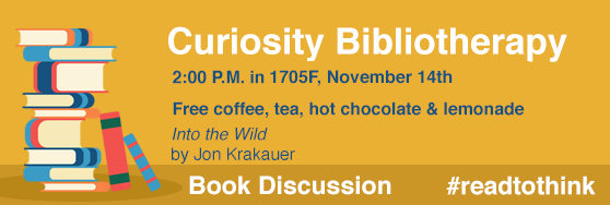 Curiosity Bibliotherapy November 14th