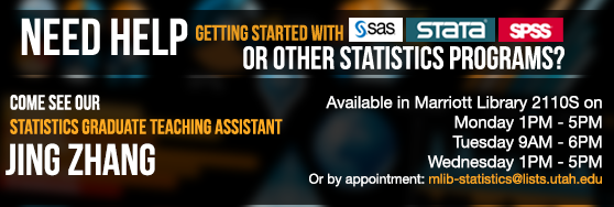 Need help with statistics programs? See statistics assistant