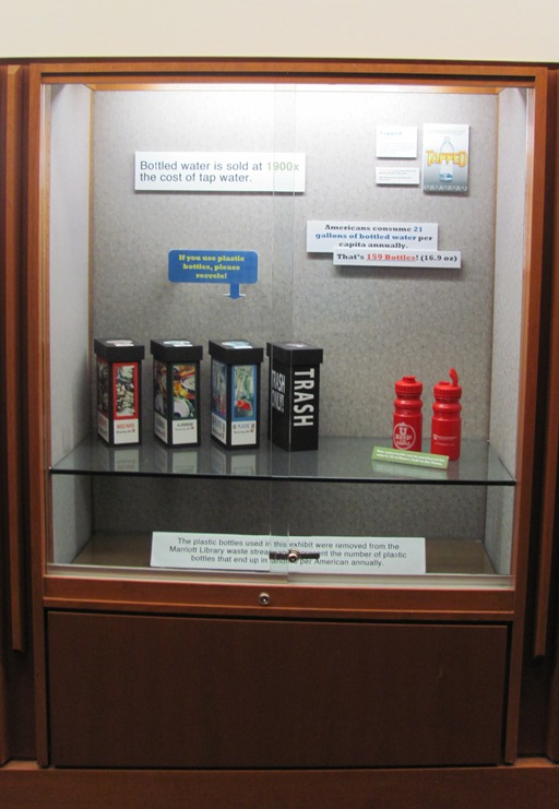 Water bottle refilling display