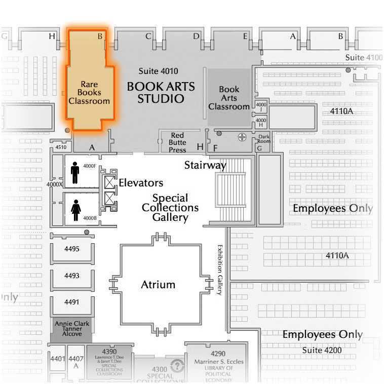 Level 4 Room 4010 North highlighted