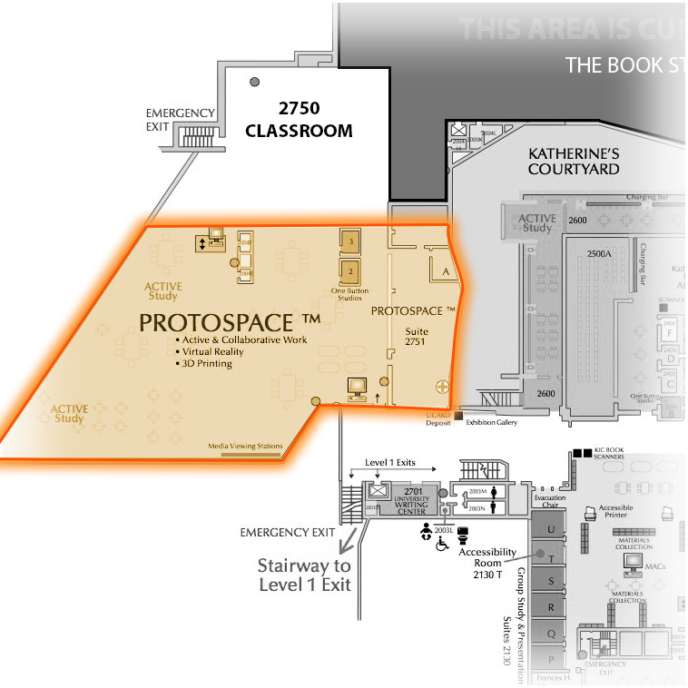 Level 2 Protospace highlighted