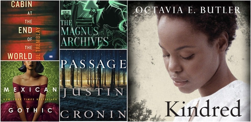 a collection of book covers written about spooky or mysterious topics for October
