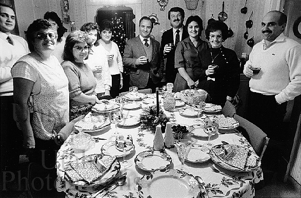 Phil Notarianni and Family, Christmas Dinner (1985. George Janecek)