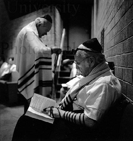 Thursday Morning Prayer Service, Kol Ami Synagogue (SLC, 1986. Kent Miles)
