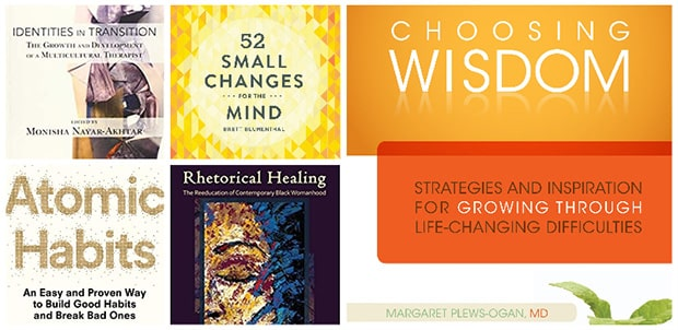 a collection of book covers written about general wellness