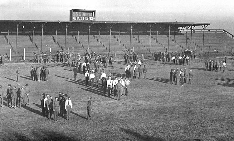 Cadets training on Cummings Field, 1917